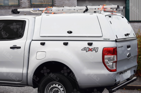 FORD RANGER 2012 ONWARDS PRO//TOP® CANOPY LOW GULLWING SIDE DOORS PAINTED WHITE