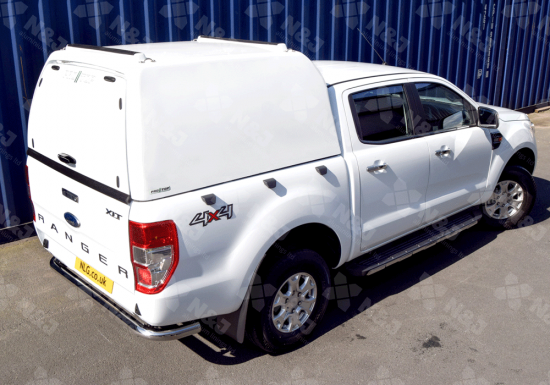 WHITE PRO TOP HIGH ROOF TRADESMAN HARD TOP FOR FORD RANGER DOUBLE CAB 2012 ON