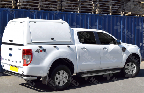 WHITE PRO TOP HIGH ROOF GULLWING HARD TOP FOR FORD RANGER DOUBLE CAB 2012 ON