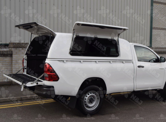 HILUX 2016 ON SINGLE CAB PRO//TOP GULLWING CANOPY SOLID REAR DOOR