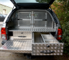 Revo fitted with Leisure Drawers and Dog Guard.