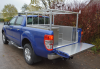 Ford Ranger Plain Aluminium Lining and Side Boxes complete with Ladder Rack