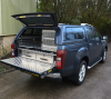 Isuzu Dmax Drawers, slid out and dog box.